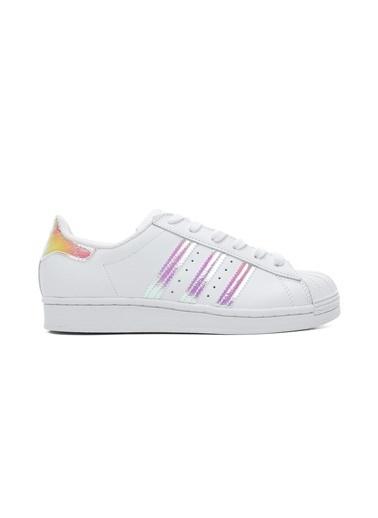 adidas Kadın Superstar Sneakers FV3139.Beyaz Beyaz